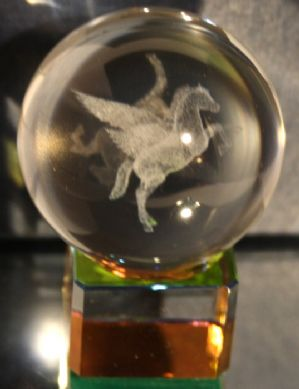 PEGASUS LASER CRYSTAL BALL- 40mm